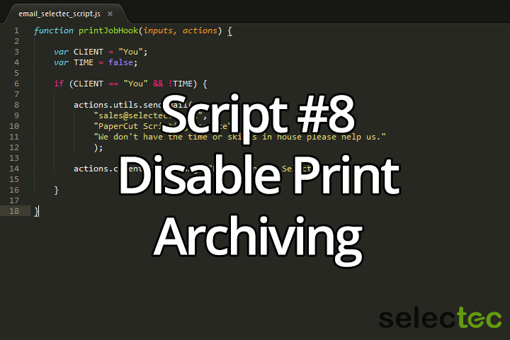 Disable Print Archiving