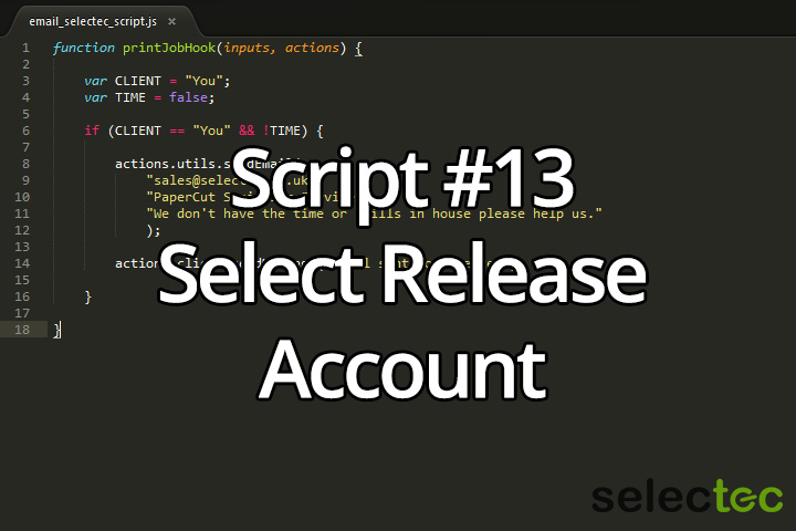 Select Release Account