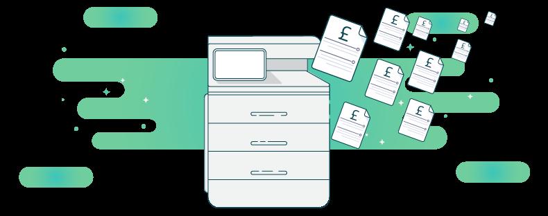 Printer saving money with PaperCut