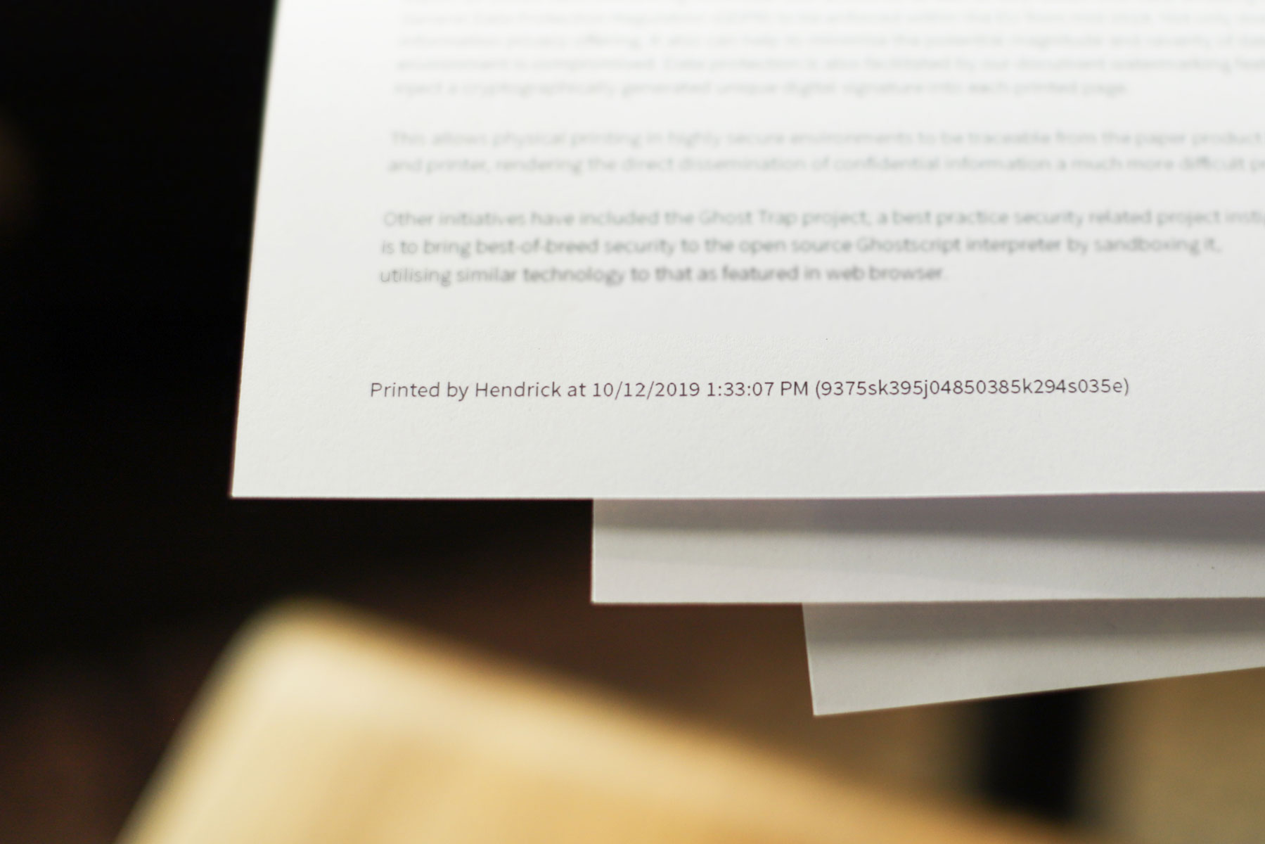 Keeping data secure for peace-of-mind printing